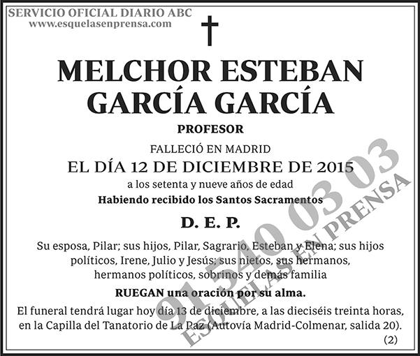 Melchor Esteban García García